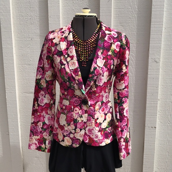 2072fa52 kate spade Jackets & Coats | Rose Print Millie Blazer | Poshmark